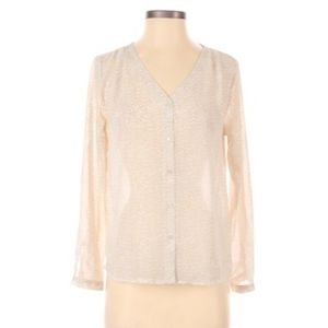 H&M long sleeve button up blouse